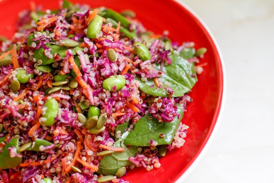 Easy rainbow salad(vegan)