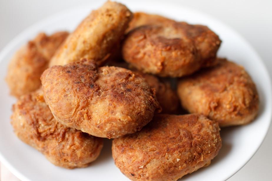 """Spicy vegan """"chicken"""" nuggets"""