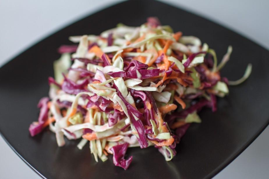 Creamy vegan coleslaw